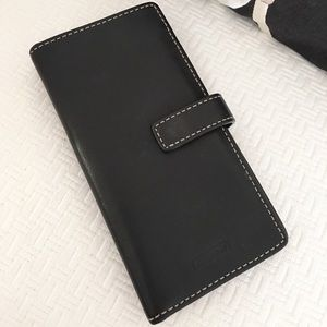 Coach Black Leather Credit Card Holder Wallet